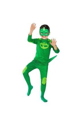 Tpm Çocuk  Yeşil Kertenkele Pj Masks Pijamaskeliler Kostümü 0