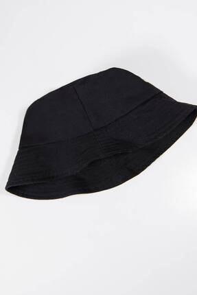 Addax Kadın Siyah Papatya Işlemeli Bucket Şapka Şpk1035 - F1 Adx-0000022885 2