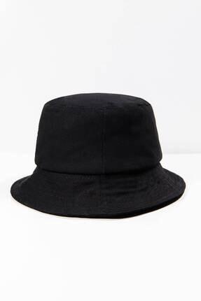 Addax Kadın Siyah Papatya Işlemeli Bucket Şapka Şpk1035 - F1 Adx-0000022885 3