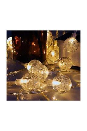 HediyeFilesi Kristal Top Süslü 2 Metre Led Işık Dekoratif 4