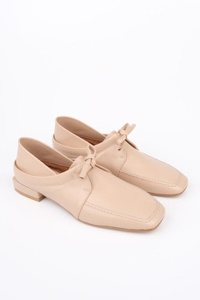 Marjin Kadın Bej Oxford Ayakkabı Borino 0