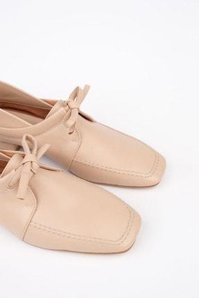 Marjin Kadın Bej Oxford Ayakkabı Borino 4
