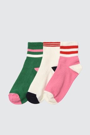Picture of 3'lü Çok Renkli Örme Çorap TWOAW20CO0054