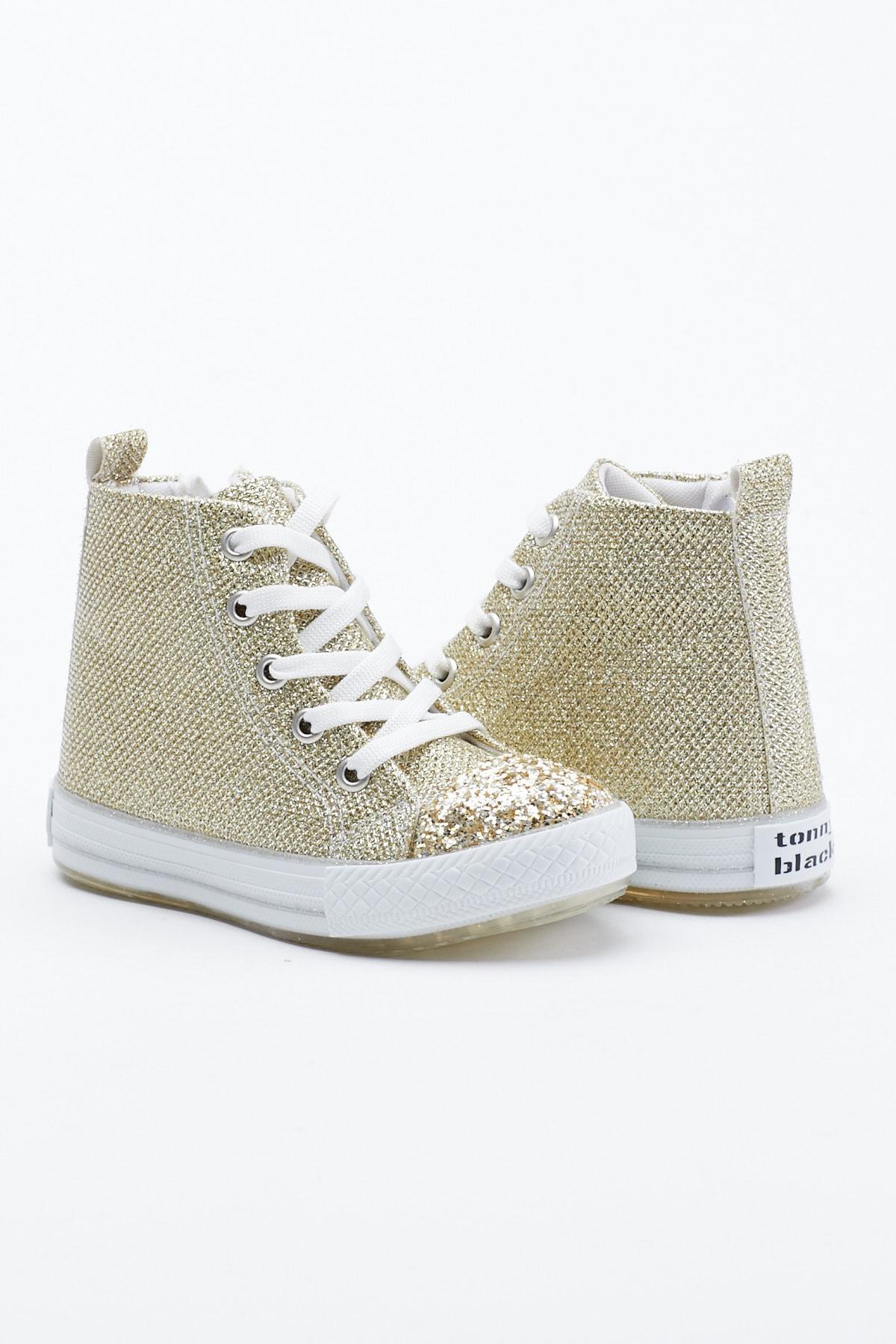 Tonny Black Altın Çocuk Spor Ayakkabı Uzun Tb999 0