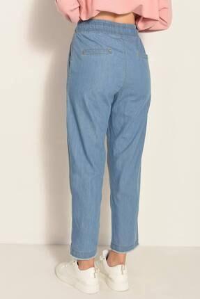 Addax Kadın Kot Rengi Önden Bağlamalı Pantolon Pn4317 - Pnl ADX-0000022956 4