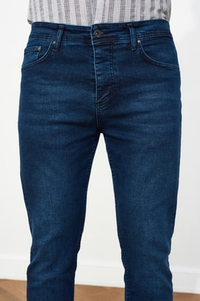 TRENDYOL MAN Lacivert Erkek Skinny Crop  Jeans TMNSS21JE0060 3