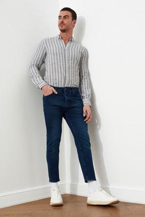 TRENDYOL MAN Lacivert Erkek Skinny Crop  Jeans TMNSS21JE0060 1