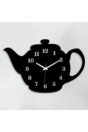 Regno Demlik Tasarımlı Dekoratif Ahşap Mutfak Duvar Saati Ds0016 0