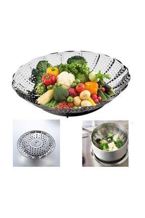 Demiray Buharda Pişirme Aparatı Sebze Haşlayıcı Sepet Paslanmaz Çelik 0