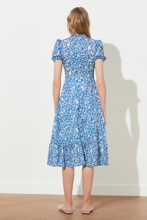TRENDYOLMİLLA Çok Renkli Desenli Elbise TWOSS20EL0894 4