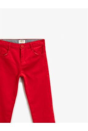 Koton Erkek Çocuk Kırmızı Pamuklu Chino Pantolon 2