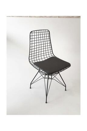 224home Tel Sandalye Siyah Cafe/restaruant/mutfak 0