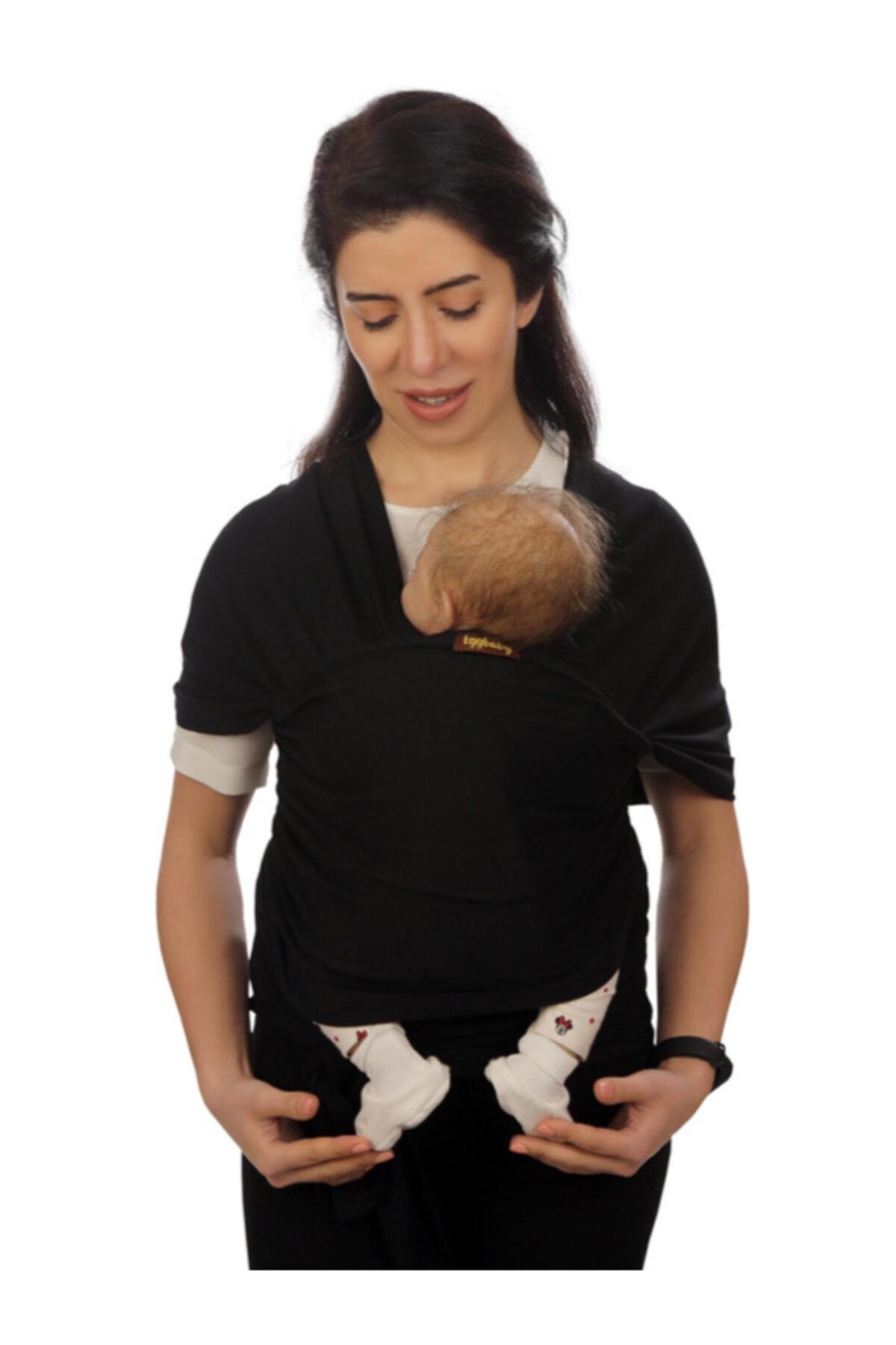 Siyah Bebek Taşıma Şalı Esnek Wrap Sling