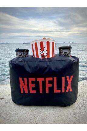 ustuneyok Netflix Popcorn Yastık Evinizde Sinema Keyfi 0