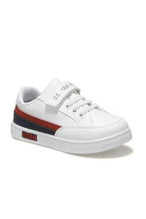 US Polo Assn JAMAL 1FX Beyaz Erkek Çocuk Sneaker Ayakkabı 100911024 0