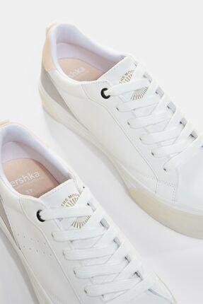 Bershka Kadın Beyaz Kontrast Platform Spor Ayakkabı 4
