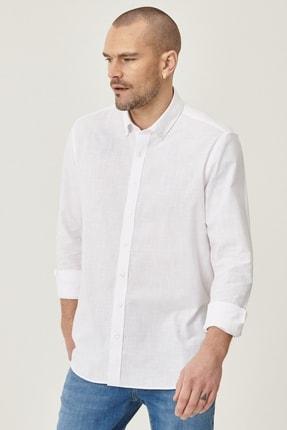 Altınyıldız Classics 2 Al Sepette Ek %20 İndirim Beyaz Tailored Slim Fit Dar Kesim Düğmeli Yaka %100 Koton Gömlek 0