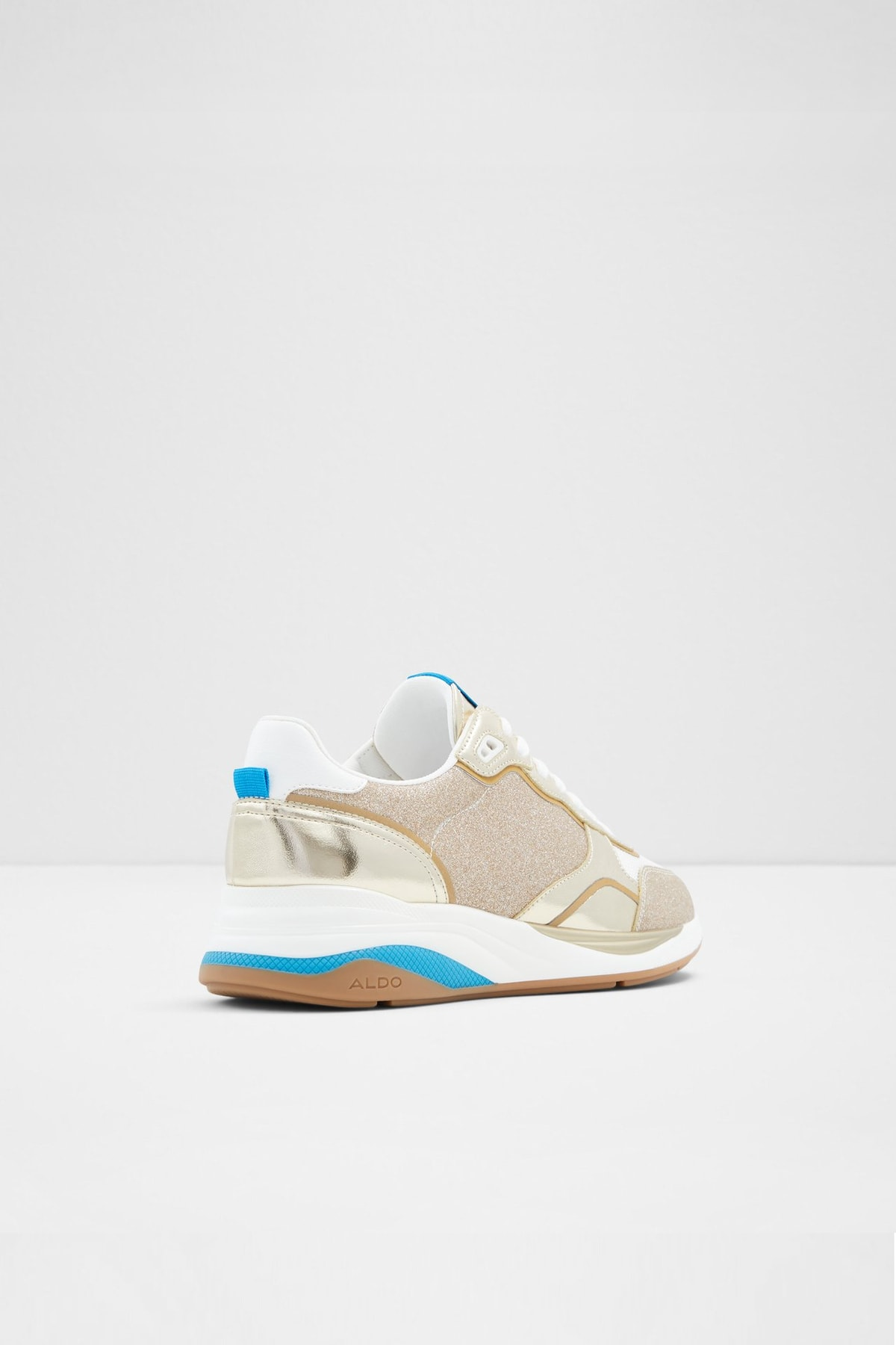 کفش کتانی آلدو سفید آبی طلایی طلائی زنانه Aldo