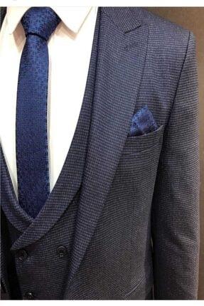 Erkek Cemedenli Slim Fit Takım Elbise erkek takım elbise