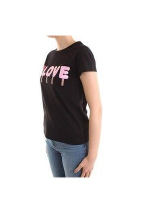 Moschino Kadın Siyah Love Baskılı T-shırt 1