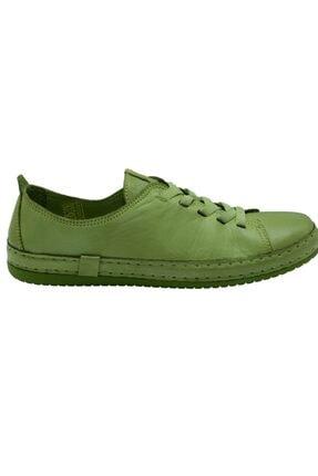 Freefoot Kadın Yeşil Deri Casual Ayakkabı 12906 0