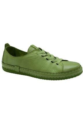 Freefoot Kadın Yeşil Deri Casual Ayakkabı 12906 1