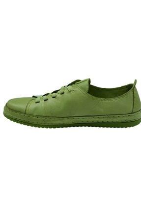 Freefoot Kadın Yeşil Deri Casual Ayakkabı 12906 2
