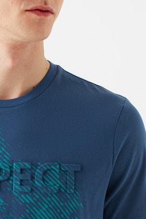 Mavi Erkek Respect Baskılı Mavi Tişört 066592-33419 4