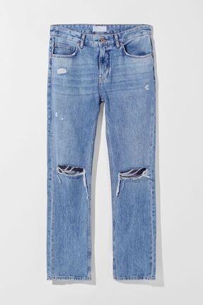 Bershka Erkek Mavi Slim Fit Jean 4