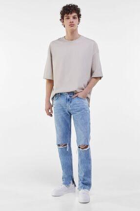 Bershka Erkek Mavi Slim Fit Jean 3