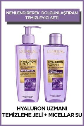 L'Oreal Paris Hyaluron Uzmanı Arındırıcı Temizleme Jeli + Micellar Temizleme Suyu 2'li Set 0