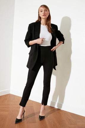 TRENDYOLMİLLA Siyah Paça Detaylı Pantolon TWOAW21PL0517 2