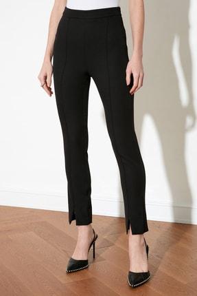 TRENDYOLMİLLA Siyah Paça Detaylı Pantolon TWOAW21PL0517 3