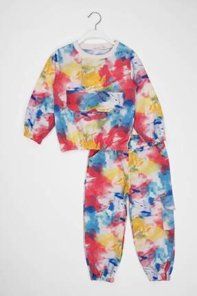 zepkids Kız Çocuk Eşofman Takımı Batik Desenli 6-9 Yaş 3