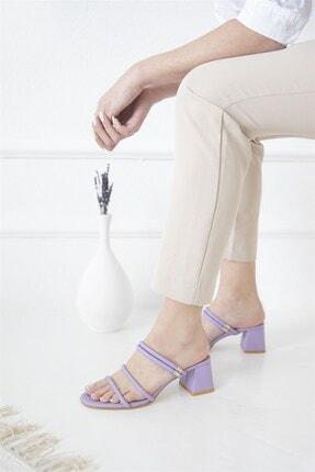 Straswans Camren KadınTopuklu Deri Sandalet Lila 0