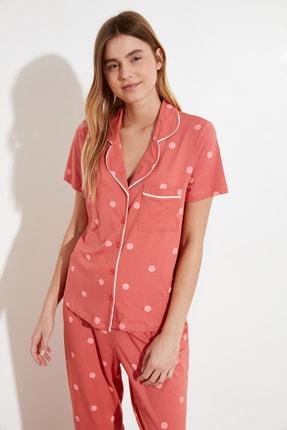 TRENDYOLMİLLA Puantiyeli Örme Pijama Takımı THMAW21PT0295 2