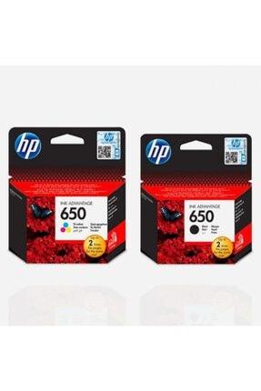 HP 650 Siyah Ve Renkli Kartuş Seti (Cz101ae+cz102ae) 0
