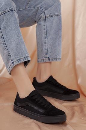 Daxtors Unisex Siyah Günlük Ortopedik Sneaker D044 2