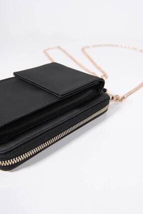 Addax Kadın Siyah Telefon Bölmeli Cüzdan Çantası Czdn74 - F6 Adx-0000022976 3