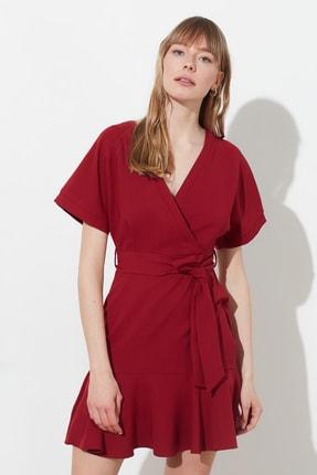 TRENDYOLMİLLA Bordo Kuşaklı Elbise TWOSS20EL0944 1