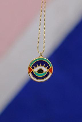 Gui Jewellery Kadın Gümüş Universe Madalyon Kolye 1