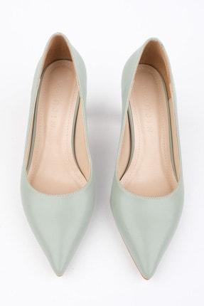 Marjin Kadın Yeşil Stiletto Topuklu Ayakkabı Akuna 2