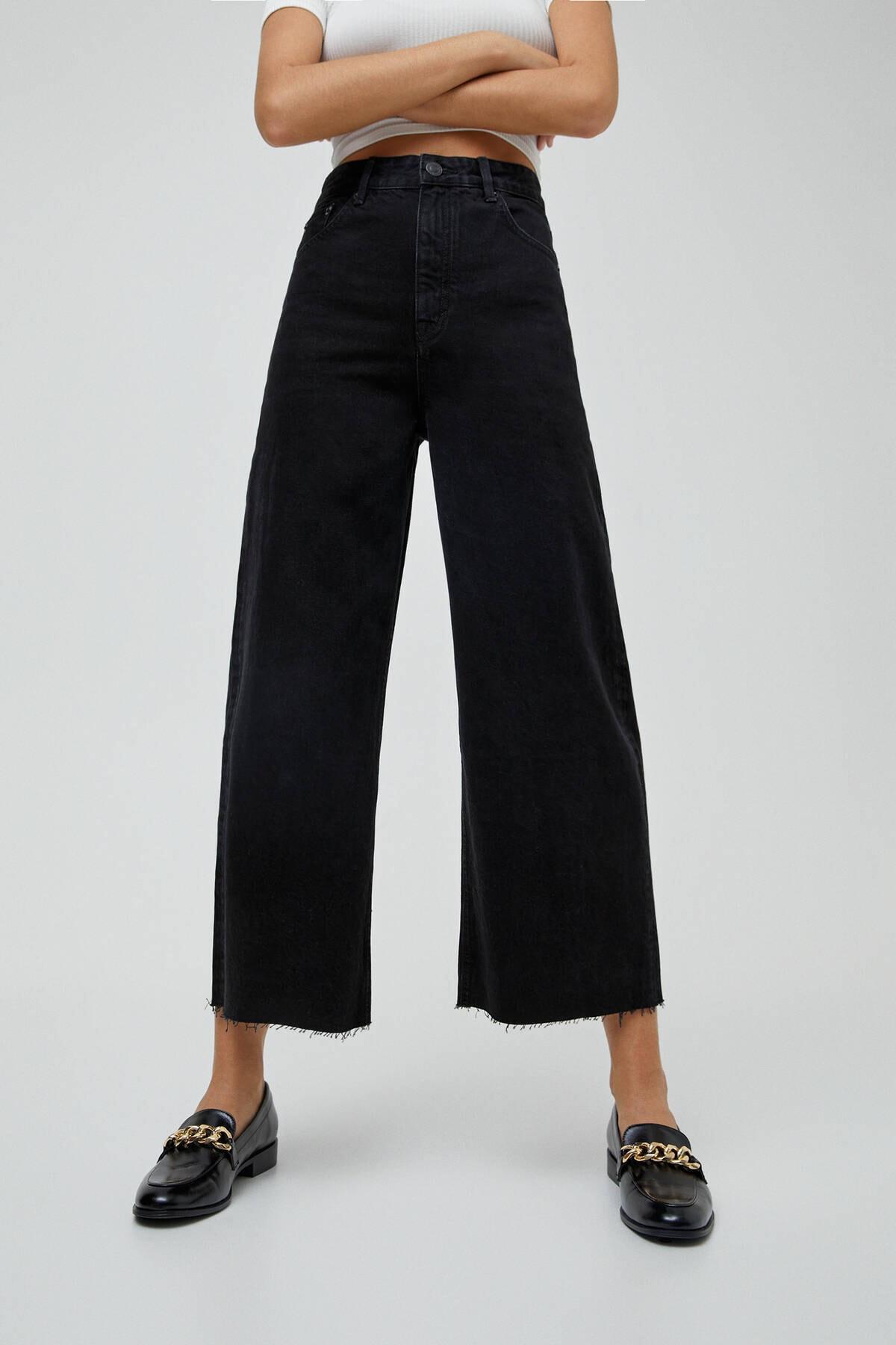 Pull & Bear Basic Petite Culotte Jean 2