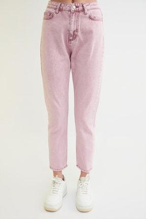 TRENDYOLMİLLA Pembe Yüksek Bel Mom Jeans TWOSS21JE0172 4