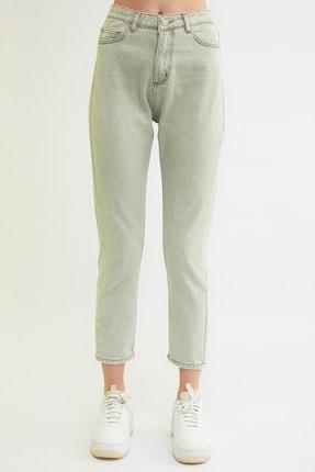 TRENDYOLMİLLA Haki Yüksek Bel Mom Jeans TWOSS21JE0172 4