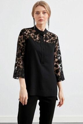 Journey Kadın Roba Ve Kollar Yakma Desenli Gömlek 0
