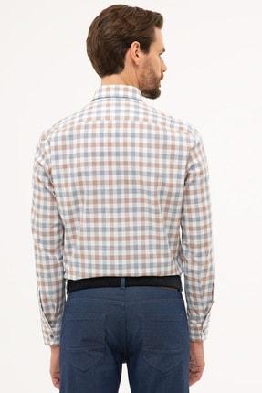 Pierre Cardin Erkek Kahverengi Detaylı Regular Fit Gömlek G021GL004.000.1113560 2