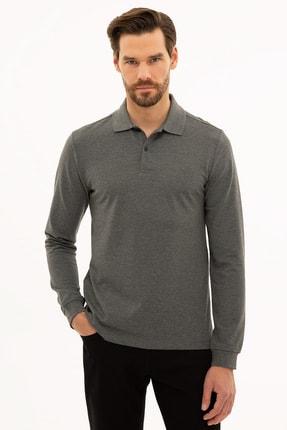 Pierre Cardin Erkek Antrasit Melanj Slim Fit Polo Yaka Sweatshirt G021GL082.000.1208969 0