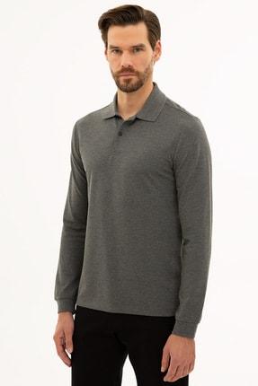 Pierre Cardin Erkek Antrasit Melanj Slim Fit Polo Yaka Sweatshirt G021GL082.000.1208969 2