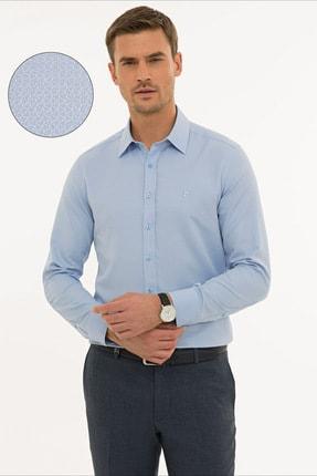 Pierre Cardin Erkek Koyu Mavi Slim Fit Armürlü Gömlek G021GL004.000.1214466 0